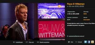 Dansende Witteman bij Pauw & Witteman